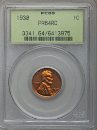 Five-Piece 1938 Proof Set PR64 PCGS. The coins are separately certified in old green label holders. The set includes: Ce...