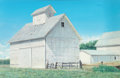 Fine Art - Painting, American:Contemporary   (1950 to present)  , Harold Gregor (American, b. 1929). Illinois Corn Crib #25,1974. Acrylic and oil on canvas. 43 x 66 inches (109.2 x 167....