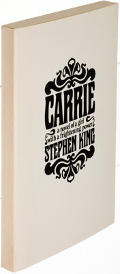Stephen King. Carrie. Garden City: 1974. First edition, advanced copy with publisher's letter t