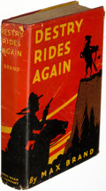 Books:Literature 1900-up, Max Brand. Destry Rides Again. New York: 1930. Firstedition....