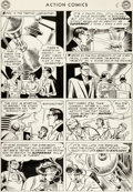Original Comic Art:Panel Pages, Wayne Boring and Stan Kaye Action Comics #198 Story Page 8Original Art (DC, 1954)....