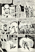 Original Comic Art:Panel Pages, Don Heck and Wally Wood Avengers #20 Story Page 14 OriginalArt (Marvel, 1965)....