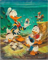 """Carl Barks """"Square Eggs"""" (aka """"Lost In The Andes"""") Painting CB -OIL 52 Original Art and Corresponden..."""