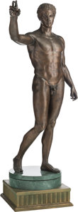 Bronze:European, A Life-Sized Bronze Sculpture after the Antique: The AntikytheraYouth (The Ephebe). 88-1/2 h x 48 w x 27 d inch...
