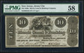 Obsoletes By State:New Jersey, Jersey City, NJ- Morris Canal & Banking Co. $10 Post Note July 15, 1837. ...