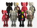 General Americana, KAWS (b. 1974). Companion (Open Edition) (set of eight),2016. Painted cast vinyl. 11 x 4-1/2 inches (27.9 x 11.4 cm) (e...(Total: 8 Items)
