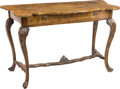 Furniture : Continental, An Italian Rococo-Style Walnut Table. 31-3/4 h x 47 w x 22 d inches(80.6 x 119.4 x 55.9 cm). ...