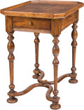 Furniture , A William & Mary-Style Single Drawer Side Table. 26 h x 24-1/2 w x 17-1/2 d inches (66.0 x 62.2 x 44.5 cm). ...