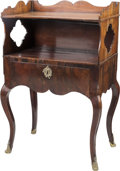 Furniture : French, A French Provincial-Style Walnut Side Table, 18th century withlater elements. 34-1/4 h x 22 w x 14 d inches (87.0 x 55.9 x ...
