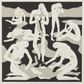 Fine Art - Work on Paper:Print, Cleon Peterson (b. 1973). Virgins (White), 2017. Screenprintin colors on paper. 28 x 28 inches (71.1 x 71.1 cm) (sheet)...