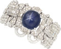 Estate Jewelry:Bracelets, Star Sapphire, Diamond, Platinum Bracelet. ...