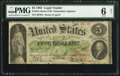 Large Size:Legal Tender Notes, Fr. 61a $5 1862 Legal Tender PMG Good 6 Net. R...