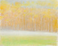 Fine Art - Painting, American, Wolf Kahn (American, b. 1927). Ground Fog in Fall, 1998.Pastel on paper. 11 x 14 inches (27.9 x 35.6 cm) (sheet). Signe...