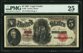 Large Size:Legal Tender Notes, Fr. 88 $5 1907 Legal Tender PMG Very Fine 25.. ...