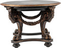 Furniture : Continental, A Baroque-Style Carved and Paint-Decorated Center Table. 29 incheshigh x 42 inches diameter (73.7 x 106.7 cm). ...