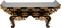 Asian:Japanese, A Japanese Lacquered and Gilt Scholar's Writing Table. 12 h x 27 wx 12 d inches (30.5 x 68.6 x 30.5 cm). ...