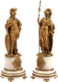 Decorative Arts, French:Other , A Pair of Louis XVI-Style Gilt Bronze Roman Figures on Onyx Bases.17 h x 7 w x 7 d inches (43.2 x 17.8 x 17.8 cm). ... (Total: 2Items)
