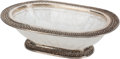 Decorative Arts, Continental:Other , A Large Carved Rock Crystal and Silver-Mounted Oval Center Bowl .Marks: 925. 5 h x 18 w x 13 d inches (12.7 x 45.7 x 33...