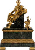 Timepieces:Clocks, A French Empire-Style Gilt Bronze-Mounted Clock, 19th century. 29 h x 21 w x 9 d inches (73.7 x 53.3 x 22.9 cm). ...