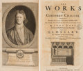 Books:Literature Pre-1900, [Geoffrey Chaucer]. John Urry, editor. The Works of GeoffreyChaucer... London: 1721...