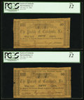 Obsoletes By State:Louisiana, Harrisonburg, LA- Parish of Catahoula 50¢ May 25, 1862. ... (Total: 2 notes)