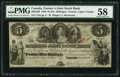 Canadian Currency, Canada Toronto, UC - The Farmer's Joint Stock Bank $5/25 Shillings Feb. 1, 1849 Ch. # 280-12-06. ...