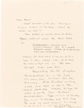 Books:Manuscripts, Cormac McCarthy. Two Autograph Letters Signed and Autograph Postcard Signed. [No place and Ushuaia, Tierra del Fuego, circa ...