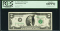 Error Notes:Ink Smears, Ink Smears on Face Error Fr. 1935-K $2 1976 Federal Reserve Note.PCGS Gem New 66PPQ.. ...