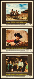 "Movie Posters:Western, The Searchers (Warner Brothers, 1956). Lobby Cards (3) (11"" X14"").. ..."