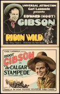 """Movie Posters:Western, The Calgary Stampede & Other Lot (Universal, 1925). Title LobbyCards (2) (11"""" X 14"""").. ... (Total: 2 Items)"""