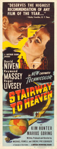 "Movie Posters:Fantasy, Stairway to Heaven (Universal International, 1946). Insert (14"" X36"").. ..."