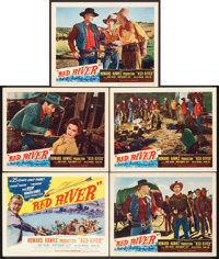 """Red River (United Artists, 1948). Title Lobby Card & Lobby Cards (4) (11"""" X 14""""). ... (Total: 5 Items)"""