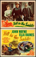 """Movie Posters:Western, Tall in the Saddle (RKO, 1944). Title Lobby Card & Lobby Card(11"""" X 14"""").. ... (Total: 2 Items)"""