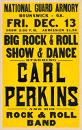 Music Memorabilia:Posters, Carl Perkins/Sun Records National Guard Armory Concert Poster(1957). Extremely Rare....