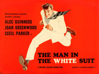 "The Man in the White Suit (Ealing, 1951). Full-Bleed British Quad (30"" X 40"") S. John Woods and A.R. Thompson..."