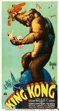 "Movie Posters:Horror, King Kong (RKO, 1933). Swedish Oversized Poster (25.5"" X 47"").. ..."
