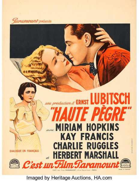 Trouble in Paradise (Paramount, 1933)  French Moyenne (23