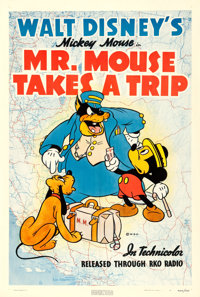 "Mickey Mouse in Mr. Mouse Takes a Trip (RKO, 1941). One Sheet (27.5"" X 41"")"