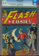 Flash Comics #18 (DC, 1941) CGC GD+ 2.5 Off-white to white pages