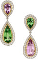 Multi-Stone, Diamond, Platinum, Gold Earrings, Paloma Picasso for Tiffany & Co