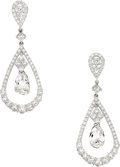 Estate Jewelry:Earrings, Diamond, White Gold Earrings, Assil. ...