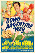 "Movie Posters:Comedy, Down Argentine Way (20th Century Fox, 1940). One Sheet (27"" X 41"")Style A.. ..."