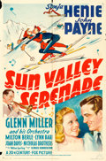 "Movie Posters:Musical, Sun Valley Serenade (20th Century Fox, 1941). One Sheet (27"" X 41"") Style A.. ..."