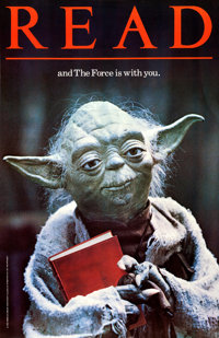 """Star Wars: READ...and The Force is with You (American Library Association, 1983). Library Poster (22"""" X 34"""")..."""
