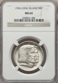 Commemorative Silver, 1936 50C Long Island MS64 NGC. NGC Census: (2013/1659). PCGS Population: (2469/2042). CDN: $85 Whsle. Bid for problem-free ...