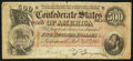 Confederate Notes:1864 Issues, Advertising Note T64 $500 1864.. ...