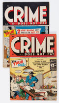 Golden Age (1938-1955):Crime, Crime Does Not Pay #41 and 44 Group (Lev Gleason, 1945-46) Condition: Average VG+.. ... (Total: 2 Comic Books)