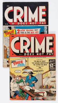 Crime Does Not Pay #41 and 44 Group (Lev Gleason, 1945-46) Condition: Average VG+. ... (Total: 2 Comic Books)