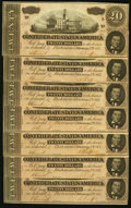 Confederate Notes:1864 Issues, T67 $20 1864. Seven Consecutive Examples.. ... (Total: 7 notes)