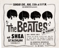 Music Memorabilia:Posters, Beatles Original Shea Stadium Oversized Advertisement (196...
